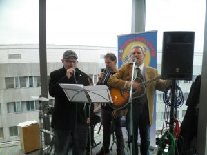 Die COMBO INKLUSIV begrüßte die Gäste musikalisch